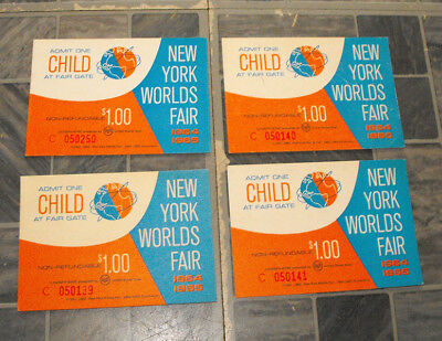 1964 New York World's Fair Ticket Lot