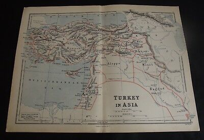 Antique Map: Turkey in Asia by Edward Weller, 1888, Colour