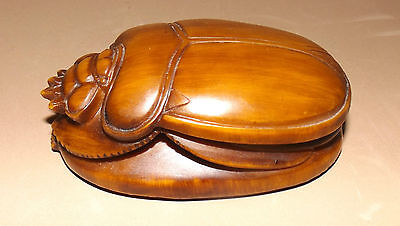 """EGYPTIAN SCARAB Statue or Paperweight  Resin Compound  4"""" X 2.75"""" w/tag AL ASEEL"""