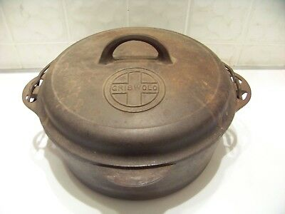 Vintage Griswold tite top dutch oven cast iron #8 w/ self basting lid 1288