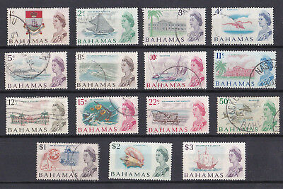 Bahamas 1967 Set of 15 - sg 295-309 - Fine Used & Lightly Mounted Mint - A048