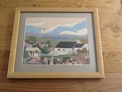 Charming hand stitched tapestry picture