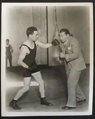 Lovely Photo Of The Legendary Benny Leonard And The Great Jack Britton In Pose!!