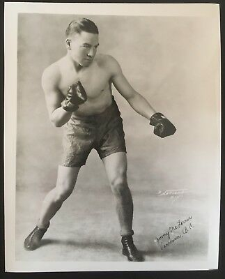 SUPERB PHOTO OF LEGENDARY WELTERWEIGHT CHAMPION JIMMY McCLARNIN IN POSE!!