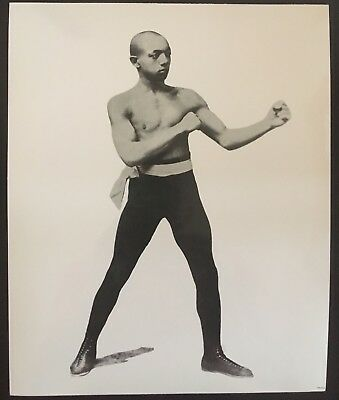 Nice Photograph Of The Legendary Featherweight Champion George Dixon In Pose!!