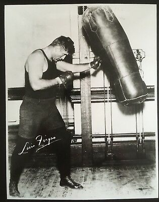 Nice Photograph Of The Great Heavyweight Contender Luis Firpo In Training!!