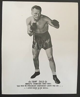 Nice Photograph Of The Great Middleweight Champion Tony Zale In Pose!!