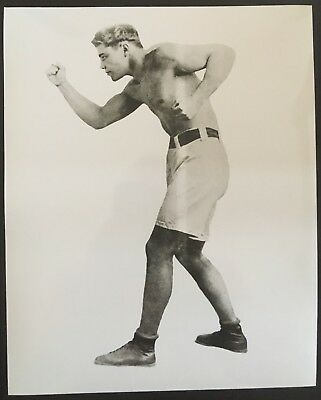 Nice Photograph Of The Great Light Heavyweight Champ Jack Dillon In Fight Pose!!