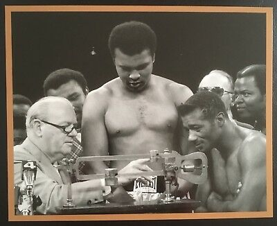 Lovely Photograph Of The Legendary Muhammad Ali And Floyd Patterson Weighing In!