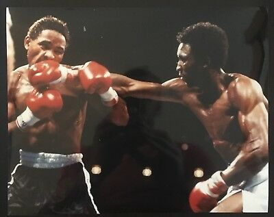 Lovely Photo Of Legends Thomas Hearns + Wilfredo Benitez In Vicious Action 1982!