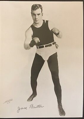 Nice Photograph Of The Great Welterweight Champion Jack Britton In Pose!!