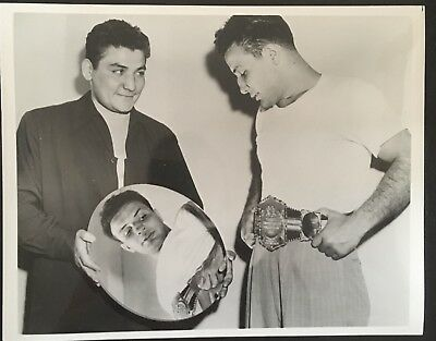 Great Portrait Photograph Of The Legendary Jake Lamotta With Brother Joey!!