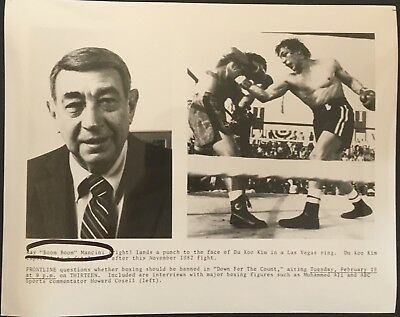 Superb Photo Of Ray Mancini V Kim And Howard Cosell 'Down For The Count' Show!!