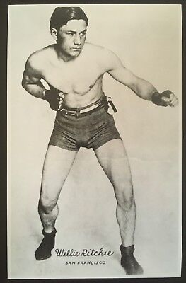 Nice Photograph Of The Great Lightweight Champion Willie Ritchie In Fight Pose!!