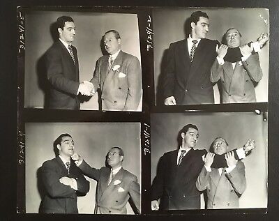 Superb Series 4 Photos Of Rocky Marciano + George Jessell 'All Star Revue' Show!