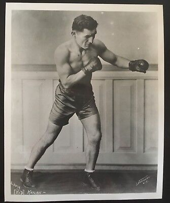 Superb Photograph Of Featherweight Champion Kid Kaplan In Fight Pose!!