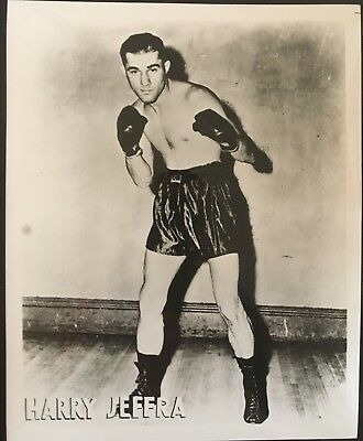 Nice Photograph Of Bantamweight Champion Harry Jeffra In Fight Pose!!