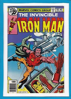 INVINCIBLE IRON MAN #118_JANUARY 1979_VERY FINE+_1st APPEARANCE JAMES RHODES!