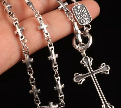 Cross Pendant Necklace Sterling 925 Silver  Ladies Decoration Christmas Gift