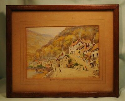 A Pair of Orginal Water Colours by Harry Edmunds Crute of Mars Hill Lynmouth