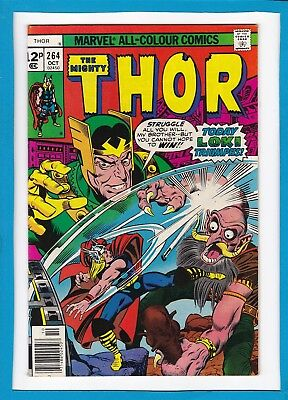 "Mighty Thor #264_October 1977_Very Fine_""today Loki Triumphs""_Bronze Age Uk!"