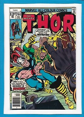 "Mighty Thor #266_December 1977_Very Fine+_""asgard Is Doomed""_Bronze Age Uk!"