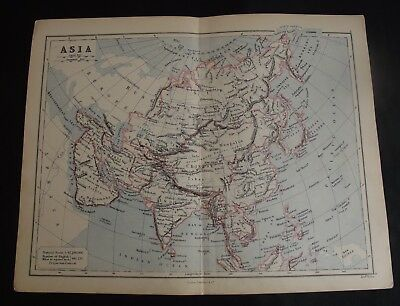 Antique Map: Asia by Edward Weller, 1888, Colour