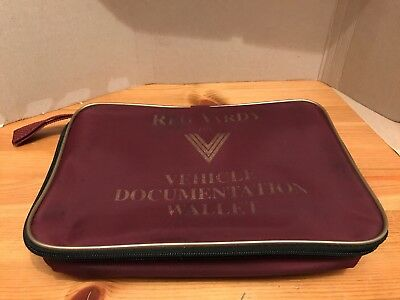 REG VARDY VEHICLE DOCUMENT POUCH / BAG (first aid kit bag?)HANDBOOKS MOTS etc...