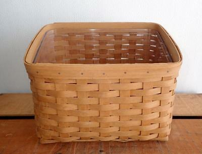 Longaberger 2004 Media Basket w/ Protector, Picture Lid