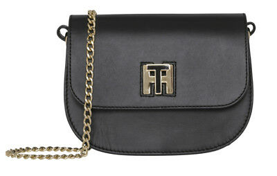 Tommy Hilfiger Damen TH Twist Leather Tote Schultertasche