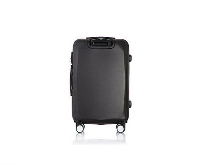 E846 Black Universal Wheel Coded Lock Travel Suitcase Luggage 20 Inches W