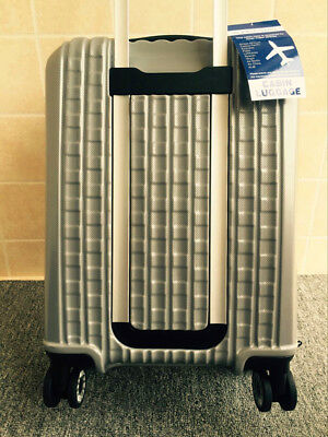 E998 Silver ABS+PC Lock Universal Wheel Travel Suitcase Luggage 28 Inches W