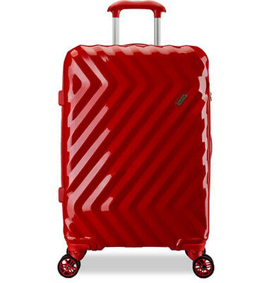 E878 Red Business Universal Wheel Coded Lock Travel Suitcase Luggage 20 Inches W