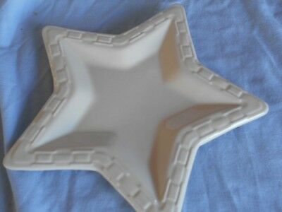 Longaberger Woven Traditions Pottery~Ivory~STAR shaped~Plate~Dish~Holiday