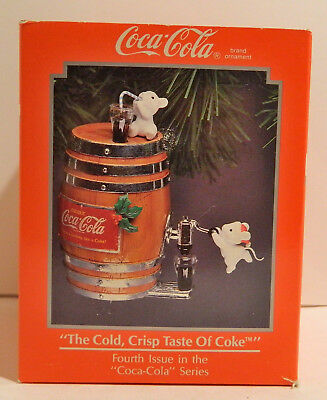 Coca Cola Ornament – The Cold Crisp Taste Christmas Tree Ornament - 1992