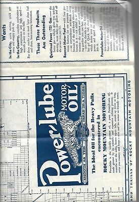 OLD map,,,by Power-Lube Motor Oil,tiger,Map of Colorado and denver,Powerine CO