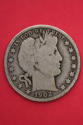1902 P Barber Liberty Half Dollar Exact Coin Pictured Flat Rate Shipping OCE 451