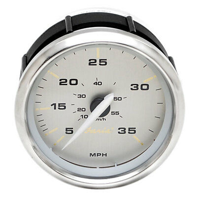 Faria Sek601A White / Gold / Silver 3 7/8 Inch Boat Speedometer