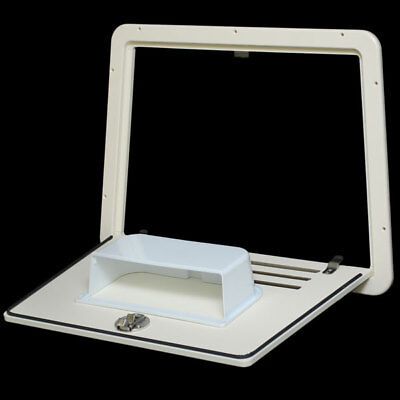 Tracker Marine 167953 Off White Starboard Boat Access Console Hatch Door