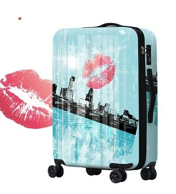 E752 Lock Universal Wheel Green Building Travel Suitcase Luggage 20 Inches W