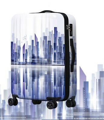 E470 Lock Universal Wheel Purple City ABS+PC Travel Suitcase Luggage 20 Inches W