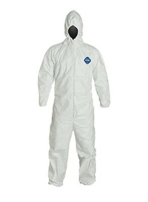 Dupont Tyvek 400 Protective Coverall With Hood, White, 3Xl
