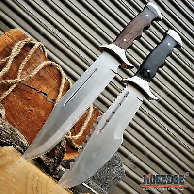 """Outdoor 15"""" Full Tang Fixed Blade Survival Rescue Hunting Camping Bowie Knife"""