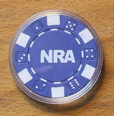 NRA National Rifle Association Poker Chip Card Guard Cover - Blue