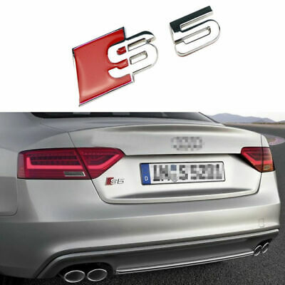 1X S8 Badge Emblem Decal Sticker Logo A8 RS8 RS S Audi boot rear trunk tailgate