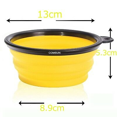 Collapsible Pet Bowl Set of 3 Travel Dog Bowls BPA Free Food Grade Silicone for