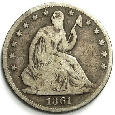 1861-O Seated Liberty Half Dollar - 50c Silver - US Mint Issue