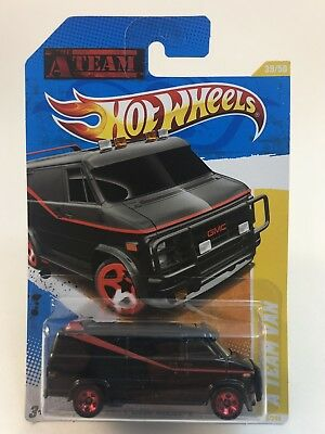 2011 Hot Wheels New Models 39/50 The A Team GMC Van Black Very Good Condition