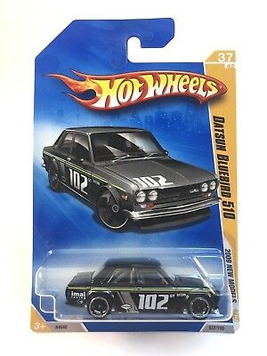 Hot Wheels 2009 Datsun Bluebird 510 BLACK  New in Package Very good Condition
