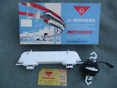 VINTAGE AMF MONORAIL WEN-MAC BAT OP TOY w 1964-1965 NEW YORK WORLDS FAIR TICKET